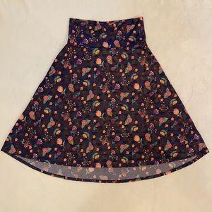 LulaRoe Azure Floral Skirt